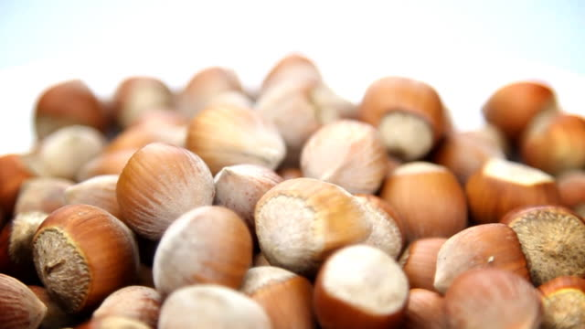 Hazelnuts background - HD, loopable