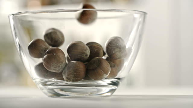 hazelnuts - bowl stock videos and b-roll footage