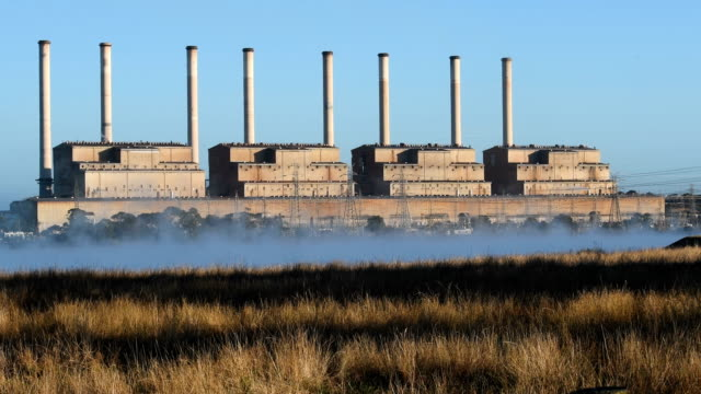 hazelwood power station - chimney stock videos and b-roll footage