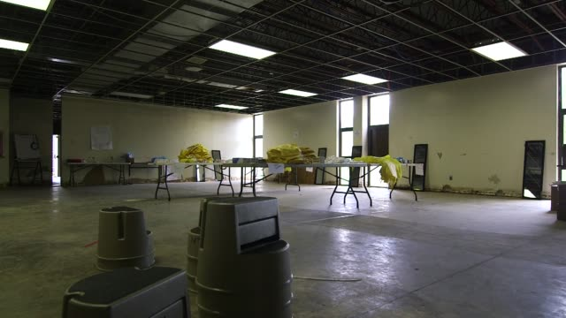 Hazmat equipment for a mock Ebola Treatment Unit at the Centers for Disease Control and Prevention facility in Anniston Alabama on October 15 Wide...