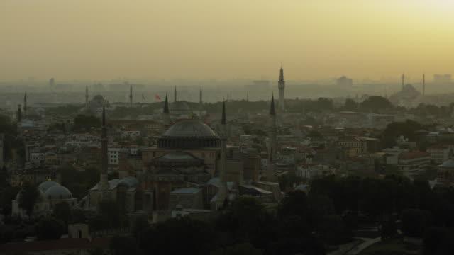 Hazy Evening View Of Hagia Sophia