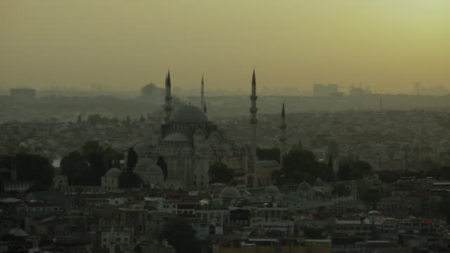 Hazy Evening View Of Suleymaniye Mosque