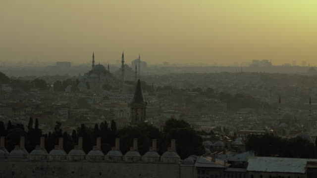 Hazy Istanbul Evening Cityscape