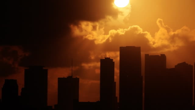hazy miami sunrise - heat haze stock videos & royalty-free footage