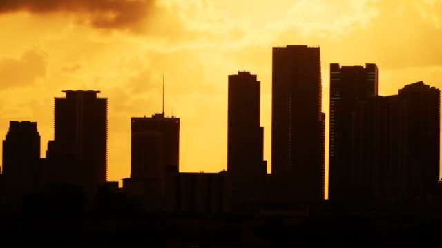 hazy miami sunrise - biscayne bay stock videos & royalty-free footage