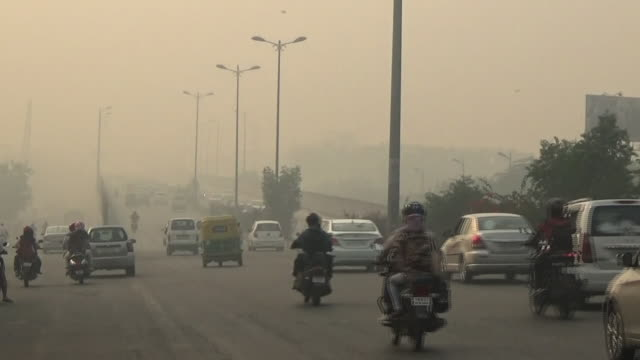 Hazy New Delhi In Severe Air Pollution, India