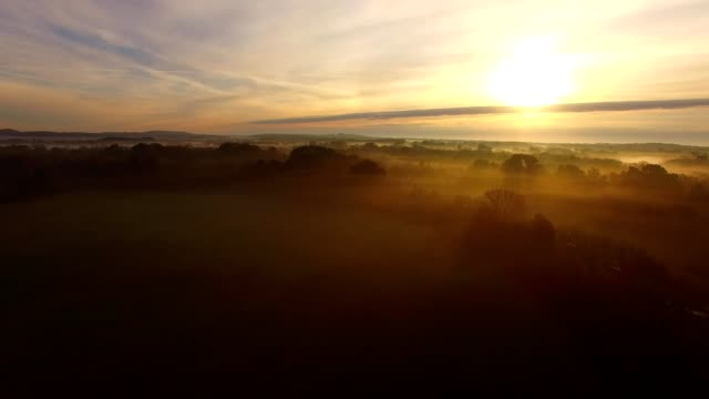 hazy sunrise - twilight stock videos & royalty-free footage