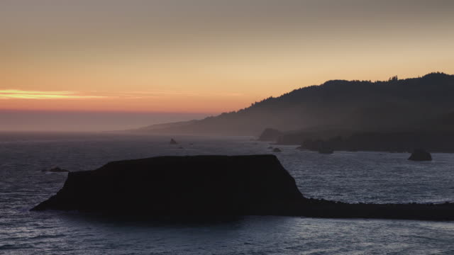 Hazy Sunset at Goat Rock, Northern California