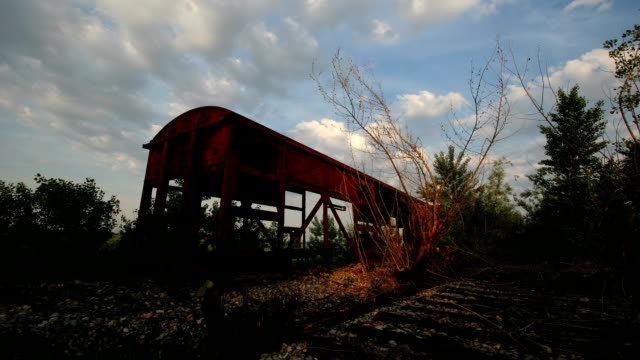 hd time lapse: decaying train - weathered stock videos and b-roll footage