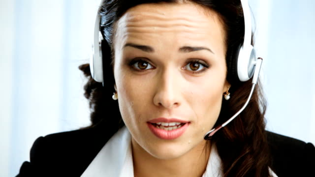 HD1080p: Kunden-support-Telefon-Betreiber im Büro