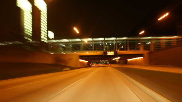 HD1080p: Night Driving  in Chicago Part 1