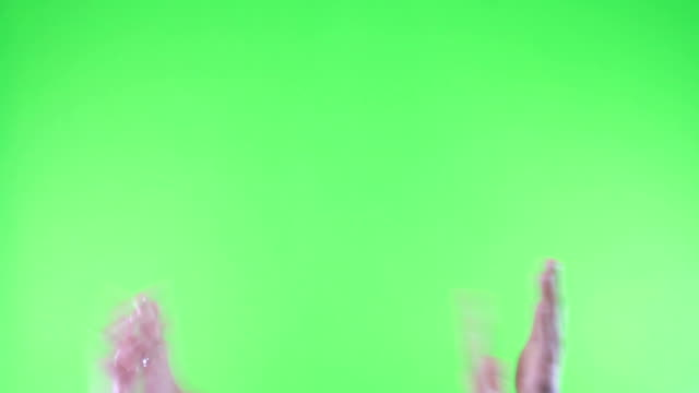 HD:Applauding on Green Screen