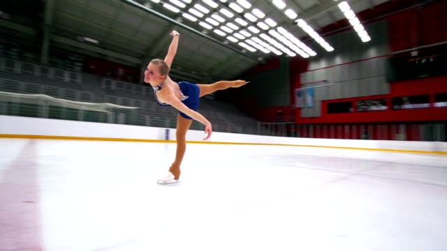 hd:beautiful female having figure skating performance - figure skating stock videos and b-roll footage