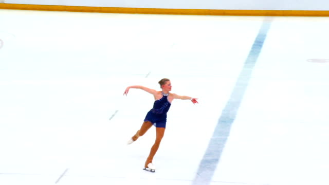 HD:Beautiful Young Women Performing Figure Skating