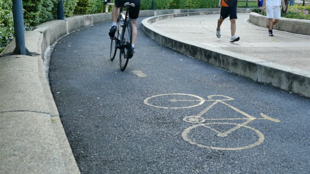 hd:bike park - vondelpark stock videos and b-roll footage