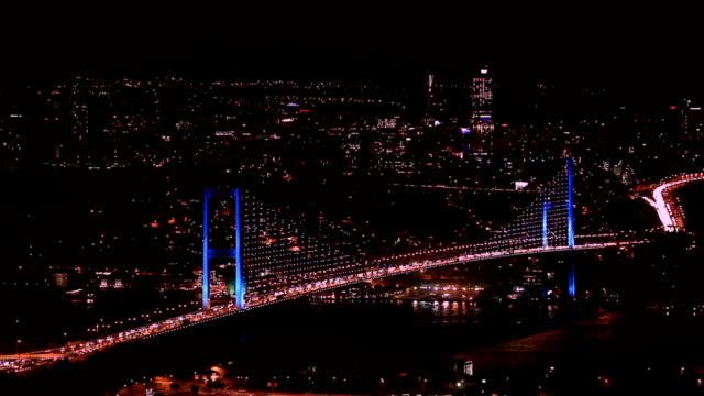 stockvideo's en b-roll-footage met hd:bosphorus bridge, istanbul, turkey - 15 juli martelaarsbrug