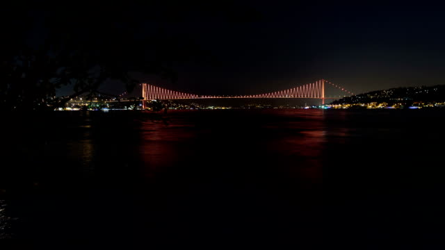 hd:bosphorus bridge. **time lapse** - distorted stock videos and b-roll footage