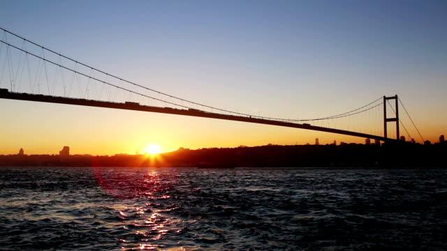 hd:bosphorus bridge. - july 15 martyrs' bridge stock videos and b-roll footage
