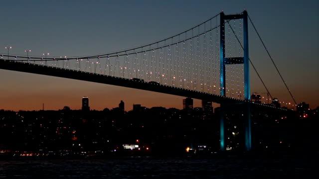 hd:bosphorus bridge. - harp stock videos & royalty-free footage