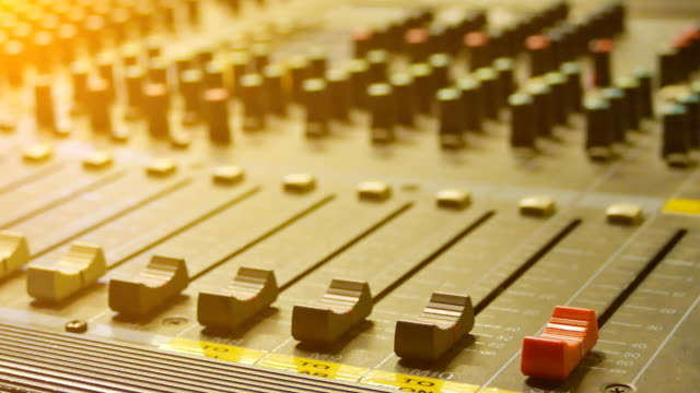 hd:close-up live mixing desk - audio equipment stock videos & royalty-free footage