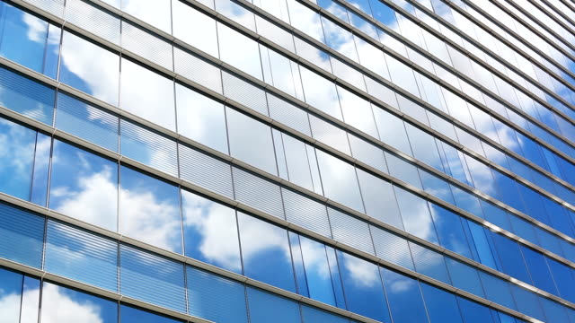 HD:Cloud reflection with building glass(Timelapse)