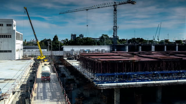 hd:construction site time lapse - 1920 stock videos & royalty-free footage