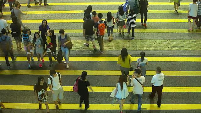 HD:Crowd people walking on crosswalk.(Time lapse)