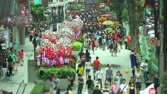 HD:Crowd people walking on the road.