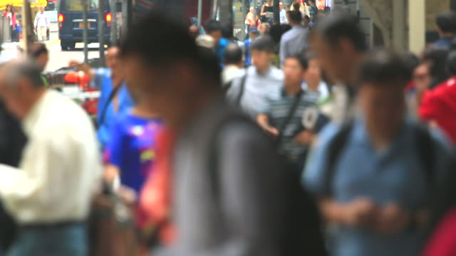 HD:Crowd people walking on the road.(Timelapse)