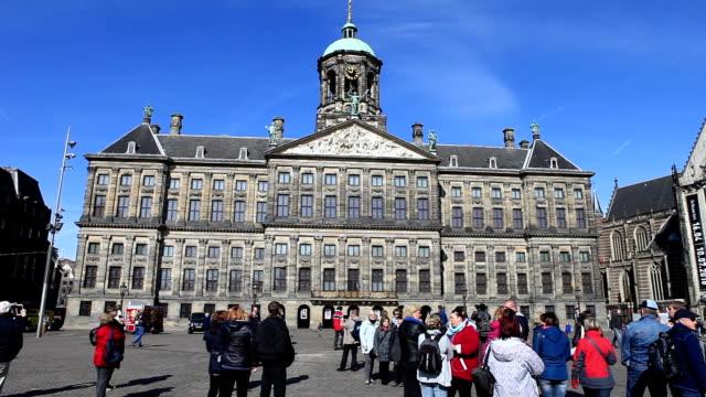 hd:dam square amsterdam - dam stock videos and b-roll footage