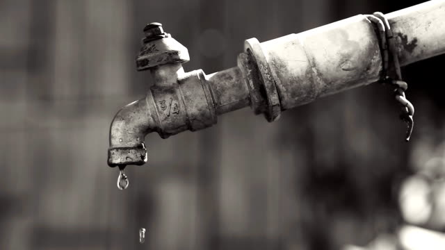 hd:dripping water from old faucet. - water pipe stock videos and b-roll footage