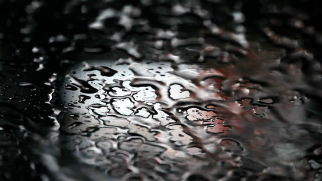 HD:Drops of water on Metallic surface .