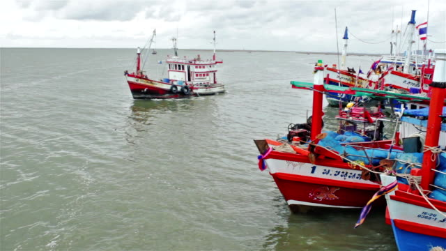 hd:fishing boats on the sea - diesel fuel stock videos and b-roll footage