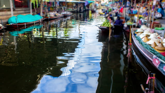 HD:Floating Market(Timelaspe).