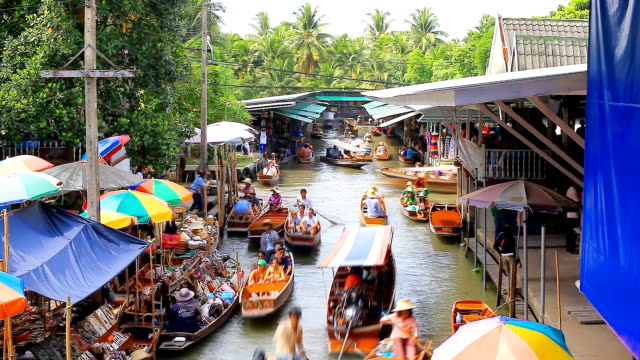 HD: Floating Market (Timelaspe).
