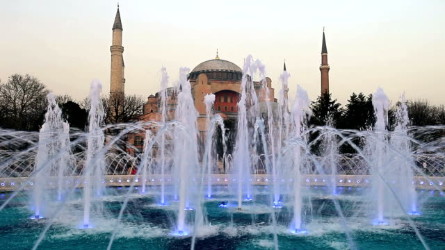 hd:hagia sophia, istanbul, turkey - sultanahmet district stock videos and b-roll footage