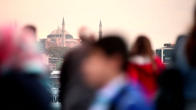 hd:hagia sophia , istanbul, turkey - bokeh museum stock videos and b-roll footage