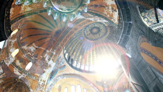 hd:hagia sophia, istanbul, turkey - mosaic stock videos and b-roll footage