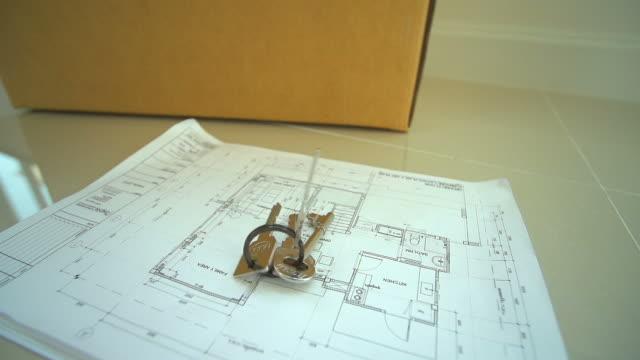 HD:House Keys drop on blueprint.