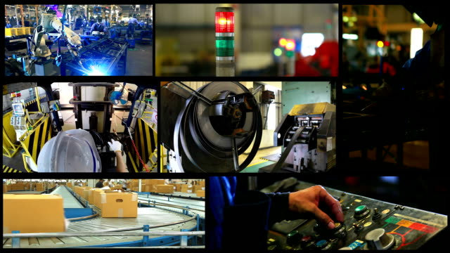 hd:industrial concept montage. - forklift truck stock videos and b-roll footage