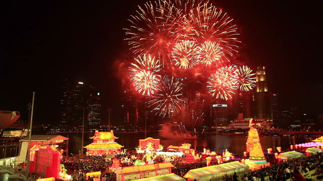 hd:lunar new year celebrations at singapore. - singapore stock videos & royalty-free footage