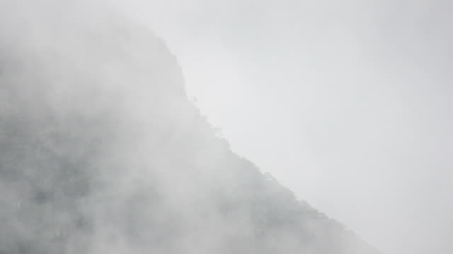 hd: montagna nella nebbia - bigfoot video stock e b–roll