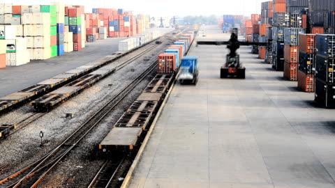 stockvideo's en b-roll-footage met hd:operation in railroad yard.(timelapse) - veiligheidshek