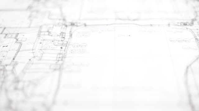 hd:panning movement of blueprint work. - blueprint stock videos & royalty-free footage