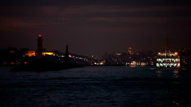 hd: panoramablick auf istanbul-szene - galataturm stock-videos und b-roll-filmmaterial