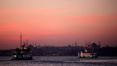 hd :イスタンブールのパノラマに広がる風景 - スルタンアフメト・モスク点の映像素材/bロール