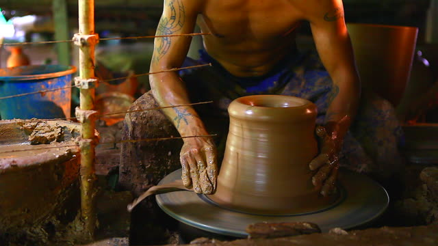 hd:pottery handmade(timelapse). - sculpture stock videos & royalty-free footage