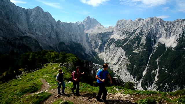 hd:reaching the mountain peak - julian alps stock videos and b-roll footage