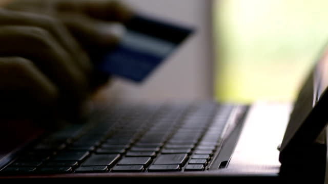 hd:shopping on the laptop. - financial item stock videos & royalty-free footage