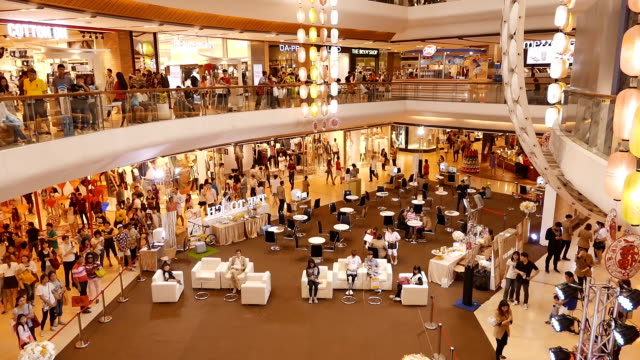 hd:shopping people - public building stock videos & royalty-free footage